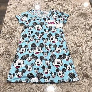 Disney Mickey Tee Shirt Dress. NWT